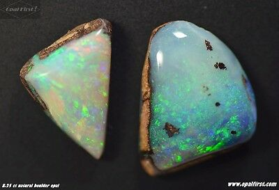 8.25 ct (2pcs) natural Queensland boulder opal from Australia by Opal First !