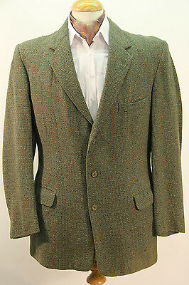 Original 1940s Green Tweed Jacket by Dunn & Co. - Chest 40 Short