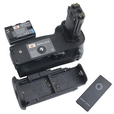 DSTE BG-E20 Battery Grip + LP-E6 Battery For Canon EOS 5D mark IV+ remote cotrol