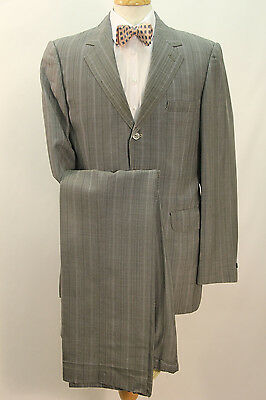 1960s Grey Stripe Single Breasted Suit.