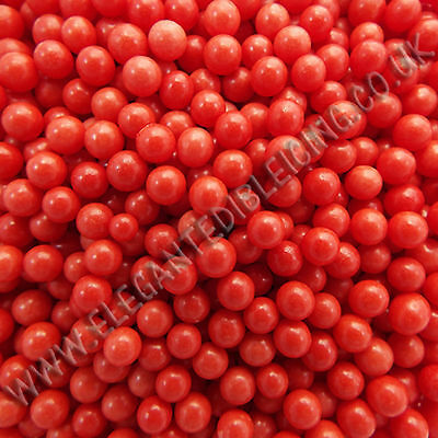 Red Sugar Balls 4Mm Christmas Dragees Pearl Ball Cupcake Cake Sprinkles
