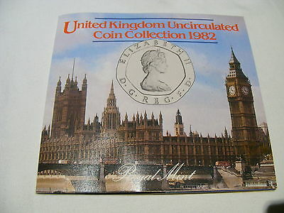 1982 Brilliant Uncirculated Coin Collection Royal Mint BU 7 Coin Set