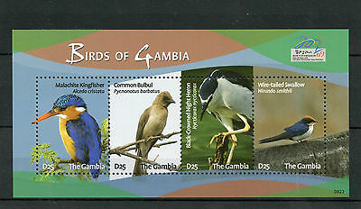 Gambia 2009 MNH Birds 4v M/S Philakorea Kingfishers Herons Swallows Stamps