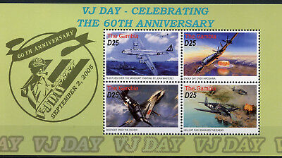 Gambia 2005 MNH WWII VJ Day 60th Anniv 4v M/S Enola Gay Aviation Stamps