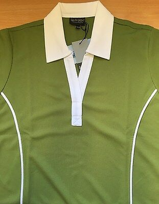 Ladies Golfing Galvin Green T Shirt with White Collar Size M