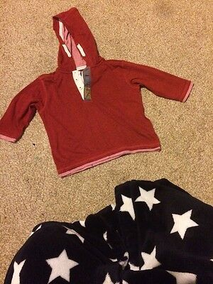 Baby Boys Red Next Hooded Top 6-9 Mths