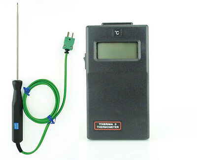 Therma 3 Digital Thermometer ( K Thermocouple ) and Pointed Penetration Probe