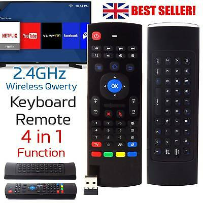 2.4GHz Wireless Qwerty Keyboard Remote Fly Air Mouse for Android TV Box XBMC M8