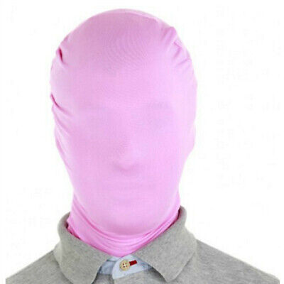 Spandex Zentai Costume Halloween Party Cosplay Full Mask/Hood 11 Colors