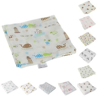 Large Unisex Baby Cotton Muslin Wraps Swaddling Burp Cloths Towel 100cm Squares