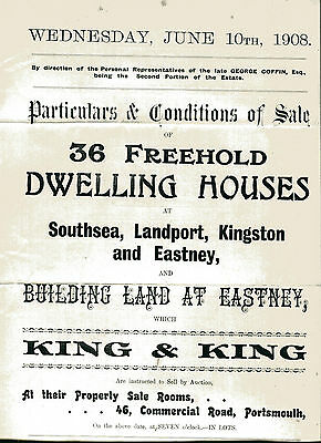 1908 Estate Agent Brochure properties in Portsmouth and Southsea Hampshire
