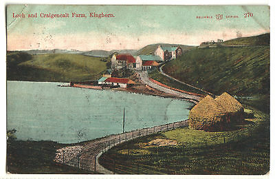 Old Postcard Loch And Craigencalt Farm, Kinghorn. Reliable Series, Posted 1905