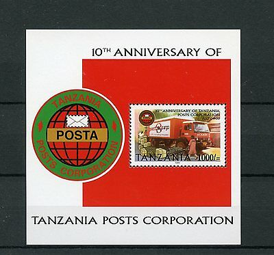 Tanzania 2004 MNH Posts Corporation 10th Anniv 1v S/S Delivery Van Cars Stamps