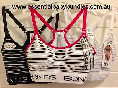BNWT 3 x Bonds Bumps Seamless Maternity Crops Size SMALL Cheap Post