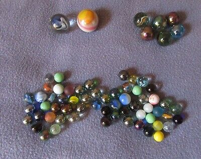 Collection Of 50+ Vintage Marbles - Various Sizes