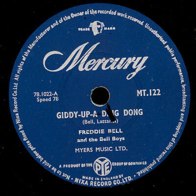 FREDDIE BELL & BELL BOYS  Giddy-up-a-ding-dong / I said it and I'm glad    S5111