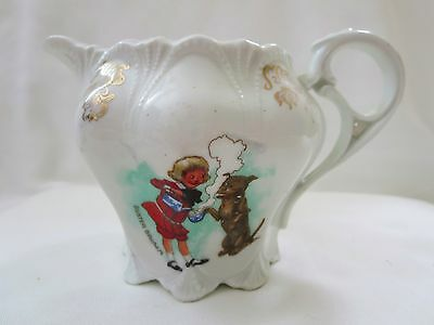 Antique BUSTER BROWN Pitcher/Creamer- EUC