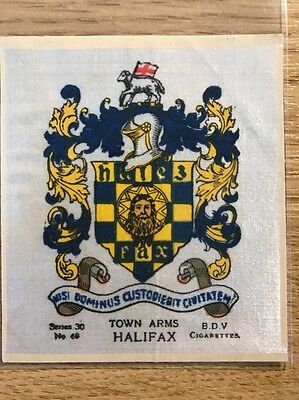silk BDV Phillips Town And City Arms Large Size No68 Halifax