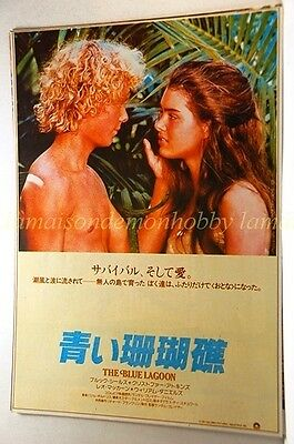 THE BLUE LAGOON Brooke Shields Christopher Atkins movie flyer:f602a