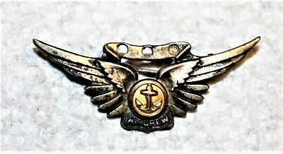 Wwii Usn Sterling Silver Combat Aircrew Badge