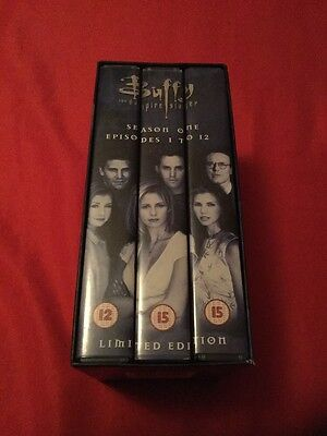 Buffy The Vampire Slayer Season 1 Episodes 1-11 Limited Edition VHS Tapes