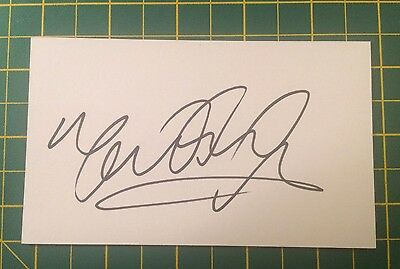 Hand Signed Mark Hughes Ex Everton Index Card & COA