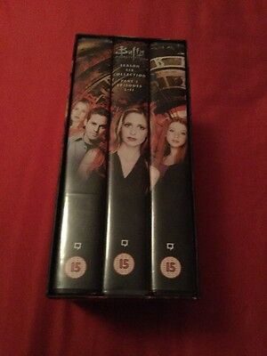 Buffy The Vampire Slayer Season 6 Part 1 Episodes 1-11 VHS Tapes