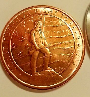 1 Ounce Of Copper In A Challenge Coin 2Nd Amendment Right To Bear Arms