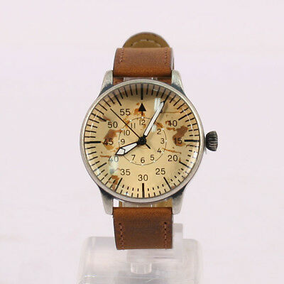 German Pilots Watch Vintage WW2 Style with Brown Face NAV337