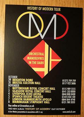 Omd/ Orchestral Manoevers In The Dark  - Tour Flyer  Fall 2010