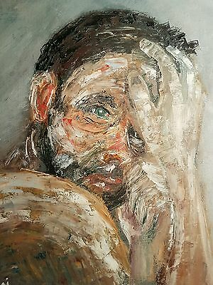 Modern Contemporary Painting Impressionist Art Signed Abstract Faust Oil Canvas