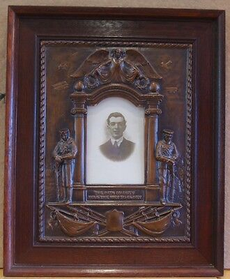 ### Rare Wwi Royal Flying Corps Memorial Plaque ###