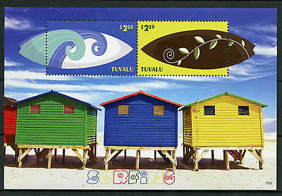 Tuvalu 2015 MNH Surfing 2v S/S I Sports Beach Waves Stamps