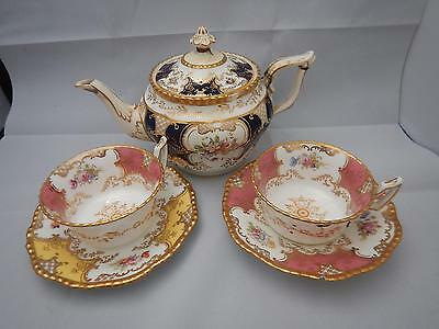 Antique Coalport Batwing Pink & Yellow for display only