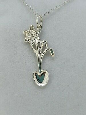 Sterling Silver Daffodil Lovespoon Pendant LP3S