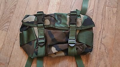 US Military MOLLE Waist Butt Pack Woodland Genuine US Military NEW