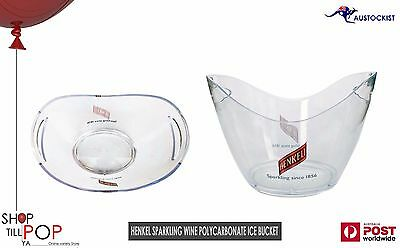 Henkel Sparkling Ice Bucket Polycarbonate BNWOB Champagne Wine Stubbies Cans Bar