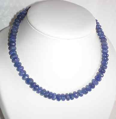 Tanzanite  -  COLLIER TANZANITE    perles: boutons facettés  9 mm  - extra