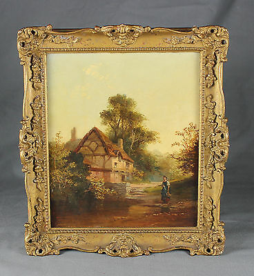 19th Century Norwich School Oil Painting Countryside Scene