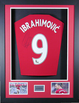 Zlatan Ibrahimovic Manchester United Signed  Shirt 3D Frame with COA