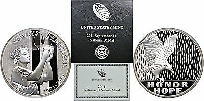 2011-P September 11 National Silver Medal, Proof, Government Issued, OGP