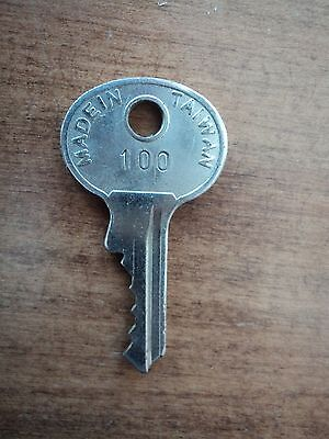 Replacement Key # 100 Amusement Arcade Pinball Juke Gumball Vending Slot