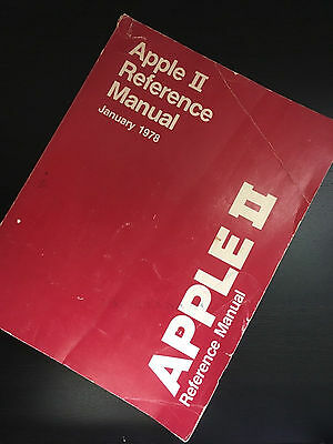 1978 Apple II Reference Manual; the RED Book by Steve Wozniak - Collectors Dream