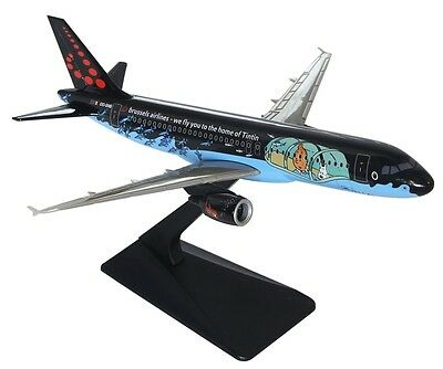 "Brussels Airlines ""TINTIN"" Airbus A320 Plastic Snap Fit Model 1:200 Scale"
