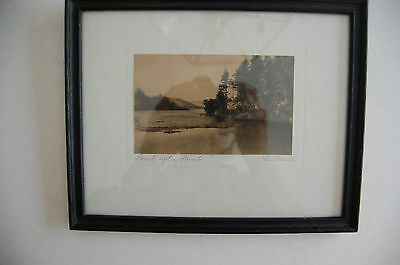 Antique Hand-color Photo LeBusch 'Point After Point'