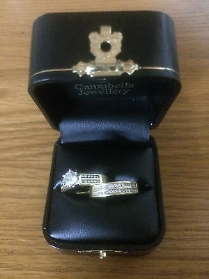 Engagement And Wedding Ring Set. 18 Ct Gold And 1.5 Ct Diamonds. Unworn