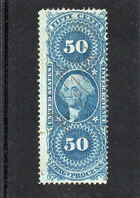 USA early 50c revenue stamp