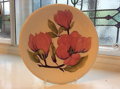 LARGE MOORCROFT PLATE / CHARGER - MAGNOLIA - 26cm - 1st QUALITY