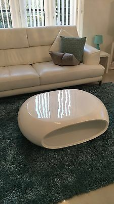 White Coffee Table Modern Living Room  Furniture