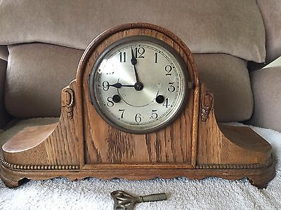 Antique Kienzle movement  oak cased art deco ? mantel clock-spares or Repair